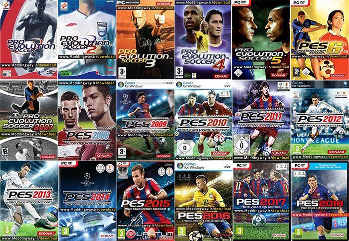 مجموعه کامل بازی های PES
