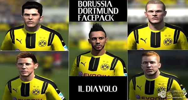 دانلود فیس پک دورتموند FIFA 14 Borussia Dortmund Facepack