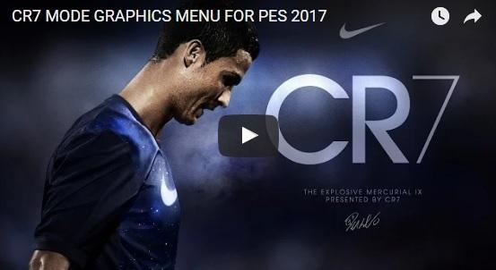 CR7 New Menu PES17 - دانلود منوی گرافیکی کریستیانو رونالدو ساخت Mohamed Sameh برای PES 2017