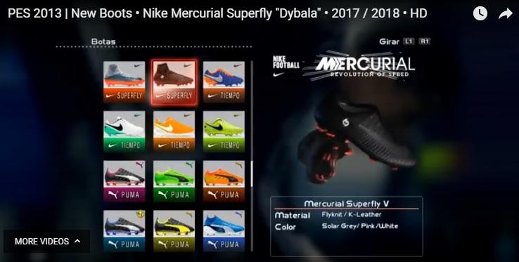 Mercurial V - کفش Nike Mercurial Superfly دیبالا برای Pes 2013