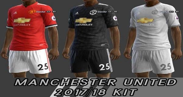 دانلود کیت پک جدید PES 2013 Manchester United 17/18