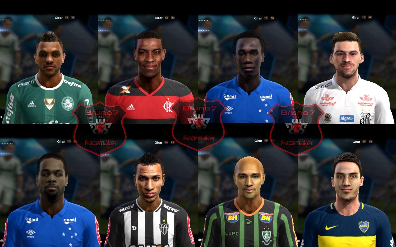 PES2013 Facespack v1 Brasileirão 2016 2017 by Bruno7 - فیس پک فصل 2016/17 لیگ برزیل برای Pes 2013 (ورژن 1)
