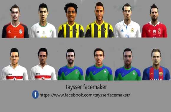 PES2013 Facespack v4 By Taysser FM - فیس پک جدید برای Pes 2013