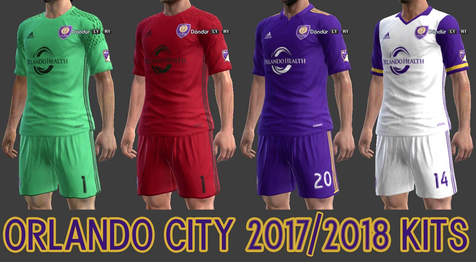 کیت پک فصل 2017/18 تیم Orlando City SC از لیگ (MLS) برای Pes 2013