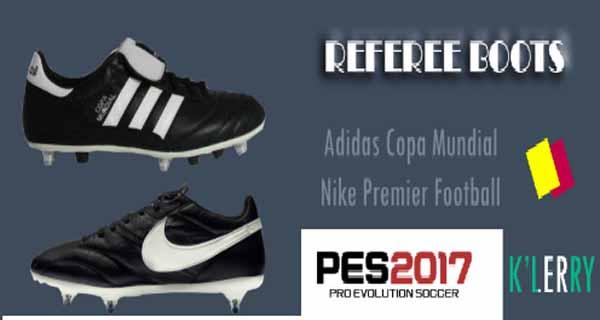 PES2017 Referee Football Ingame Boots by KLERRY - دانلود کفش جدید مخصوص داوران برای بازی PES 2017