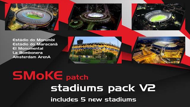 PES2017 Smoke Stadiums Update 2 - دانلود مستقیم استادیوم پک ورژن 2 سازگار با اسموک پچ برای PES 2017