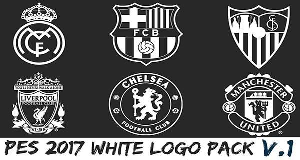 لوگوی سفید برای PES2017 - دانلود لوگو پک سفید PES 2017 White logo pack V.1