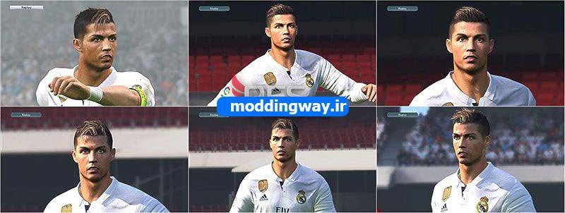 دانلود پک مدل موی جدید Ronaldo برای PES2017