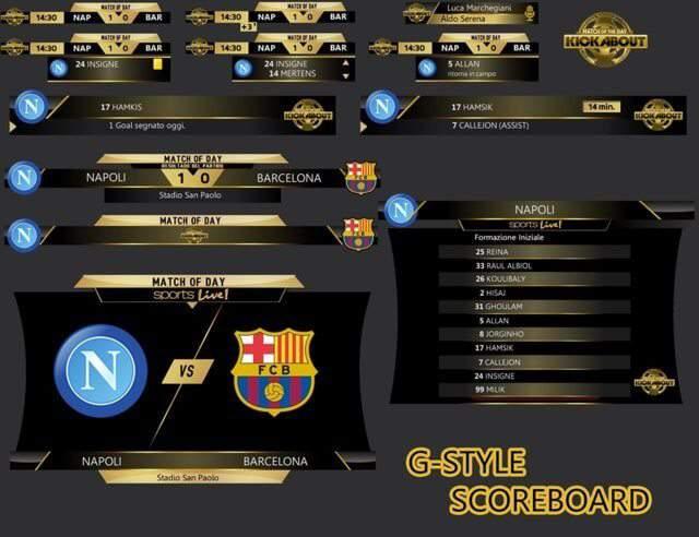 دانلود اسکوربورد فانتزی PES 2017 Match of day fantasy Scoreboard