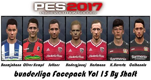 دانلود فیس پک بوندسلیگا PES 2017 Bundes facepack Vol. 15 by shaft