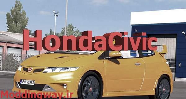 ets2 00189 PES 20170520 ModLandNet22 - دانلود ماشین Honda Civic برای یورو تراک2