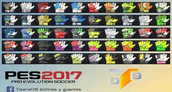 دانلود دستکش پک 100 تایی و جدید برای PES 2017