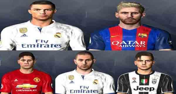 دانلود ورژن دوازدهم فیسپک کانورت شده از  FIFA17 برای PES 2017