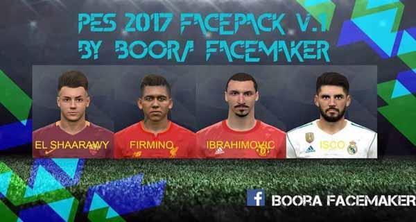 دانلود ورژن اول فیس پک Boora Facemaker برای PES 2017