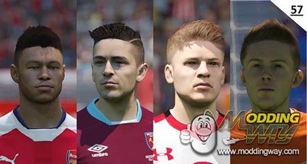 دانلود فیس پک Face pack 57 برای FIFA15