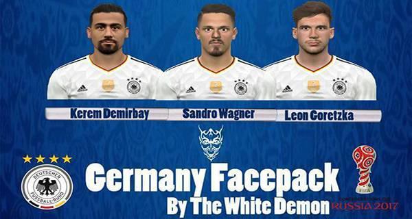 دانلود فیس پک تیم ملی آلمان PES 2017 Germany NT Face Pack
