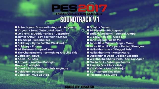 دانلود موزیک منوی جدید PES 2017 new Soundtrack V1