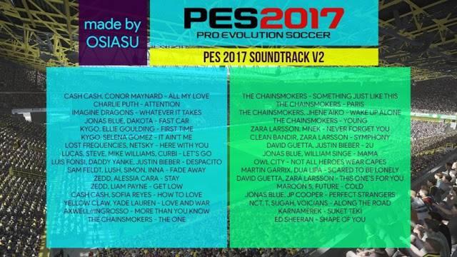 دانلود موزیک منوی New soundtrack V2 برای PES2017