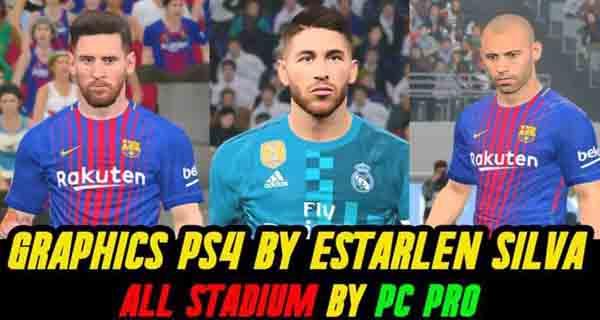 دانلود مود گرافیکی PS4 برای PES 2017