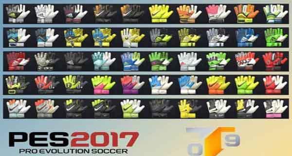 دانلود ورژن دوم دستکش پک برای PES 2017