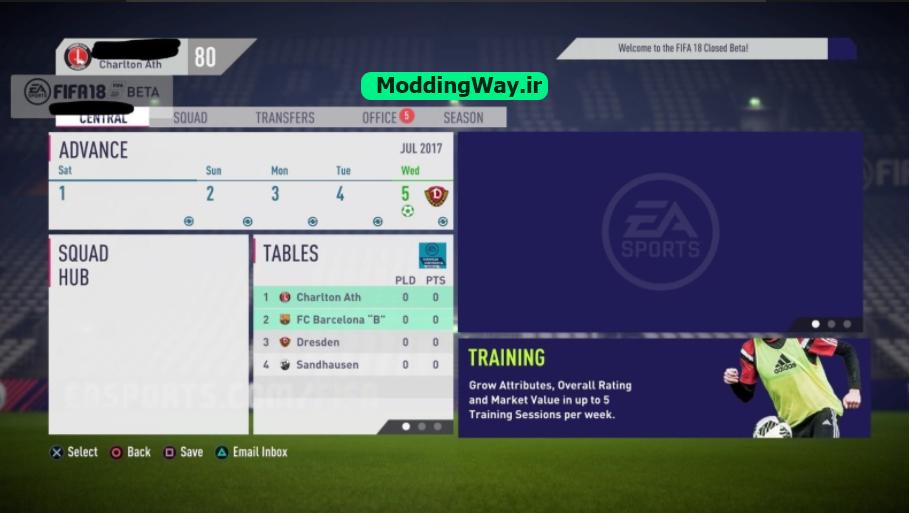 بهترین ترکیب برای منچستر یونایتد در pes 2017 دانلود ویدیو گیم پلی بخش Career Mod بازی FIFA18 - فوق ...