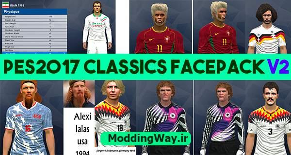 دانلود فیس پک کلاسیک Classics facepack V2 برای PES2017