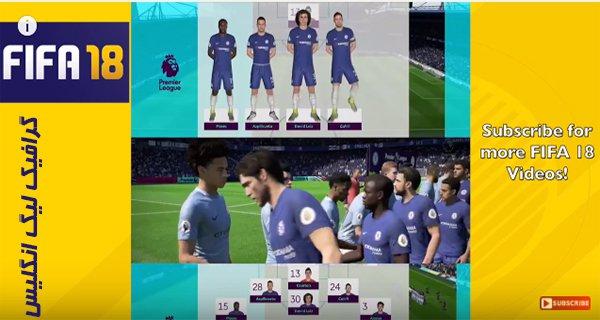 تریلر جدید از گرافیک فوق العاده لیگ انگلیس در FIFA18 !!