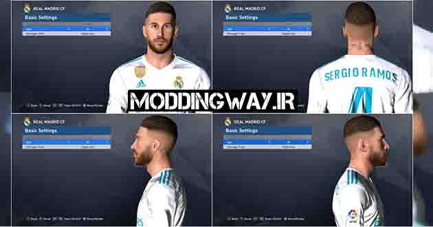 Moddingway.ir Pictures 13 - دانلود فیس و موی راموس Ramos برای PES2017