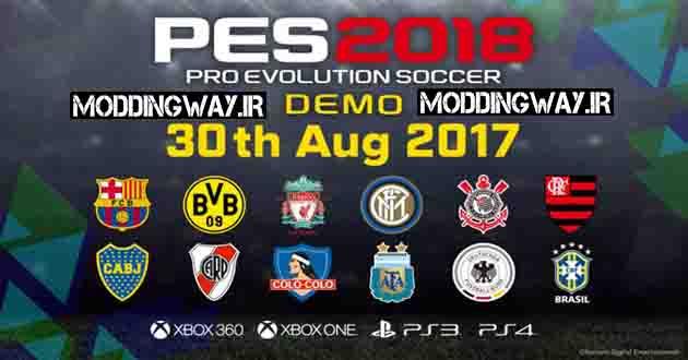 برسی دمو PES2018 در PS4