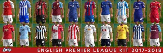 دانلود کیت پک لیگ برتر انگلیس فصل 2018 برای PES2013