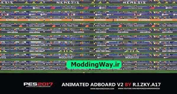 PES 2017 Animated Adboard Global FIFA 18 V2 AIO - دانلود پک ادبورد الکترونیکی برای PES2017 ورژن 2