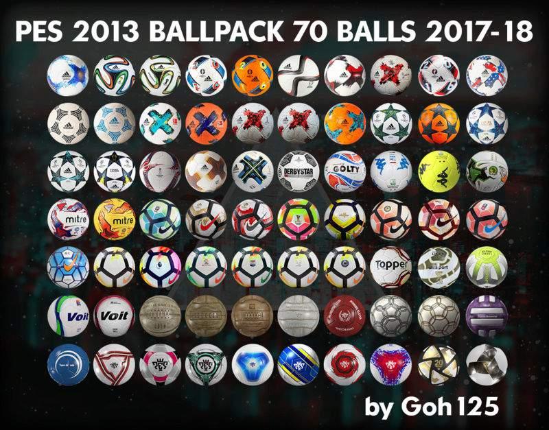 دانلود پک توپ Ballpack 2017-18 برای PES2013