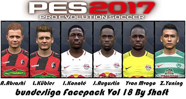 دانلود فیس پک بوندسلیگا Bundes Facepack Vol. 18 برای PES2017