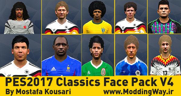 دانلود فیس پک کلاسیک Classics Face Pack V4 برای PES2017