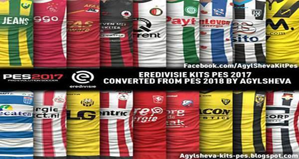 Eredivisie Kits Pes 2017 Converted From PES 2018 1 - دانلود کیت پک لیگ هلند فصل 2017/2018 برای PES2017