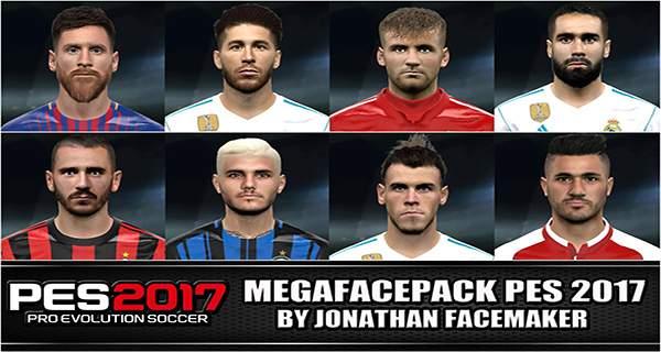 دانلود مگافیس پک MegafacePack برای PES2017 توسط Jonathan