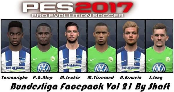 دانلود فیس پک بوندسلیگا Bundesliga Facepack Vol 21
