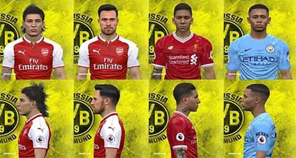 دانلود فیس پک Facepack Premier League برای PES2017