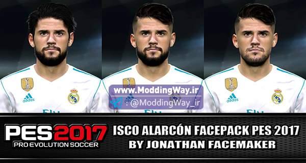 دانلود فیس پک ایسکو ISCO Face Pack برای PES2017 + تتو
