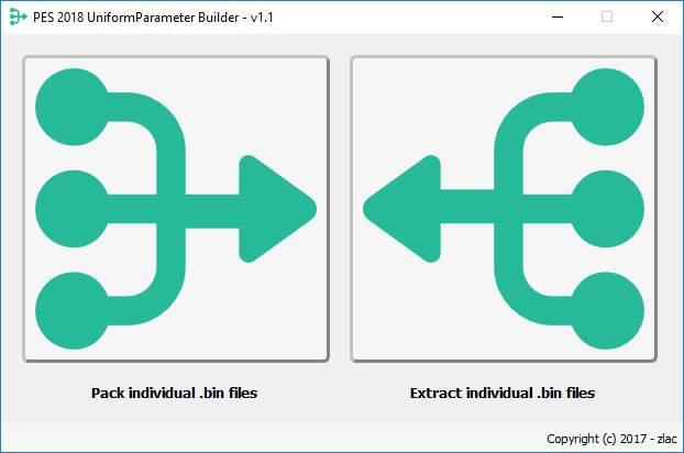 دانلود نرم افزار UniformParameter Biulder V1.1 برای PES2018