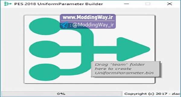 دانلود نرم افزار UniformParameter Builder V1.0 برای PES2018