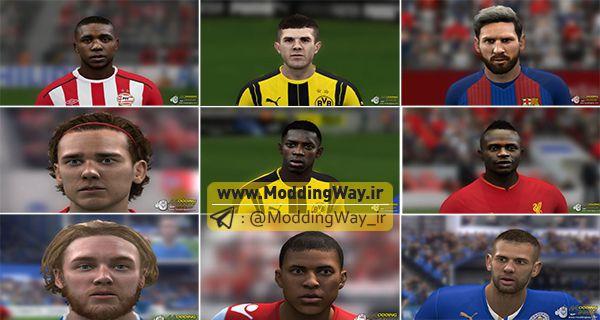 پک جدید برای FIFA14 - دانلود فیس پک Face Pack برای FIFA14 فصل 17/18