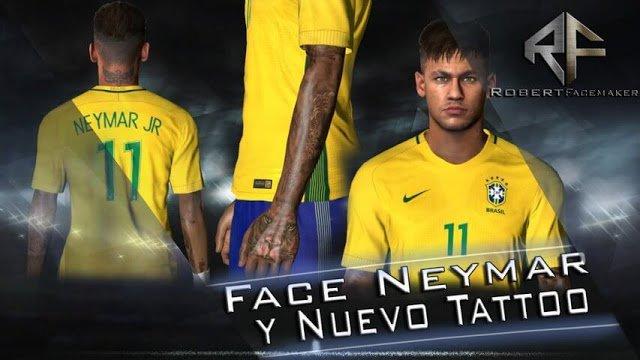 EYMAR TATTOO NUEVO - دانلود تتو جدید نیمار برای PES2017