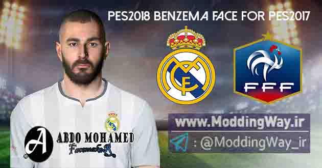 Moddingway.ir Pictures 1 - دانلود فیس کریم بنزما Benzema Face برای PES2017