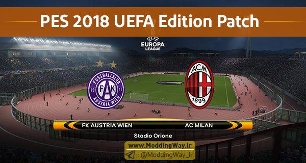 دانلود پچ UEFA Editon Patch V2.0 برای PES2018 – نسخه PC