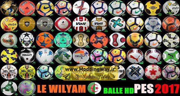 PES2017 Balls HD by LE Wilyam - دانلود پک توپ فصل 2017/2018 برای PES2017 - کیفیت HD