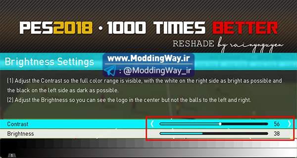 دانلود مود گرافیکی Visual Mod 1000 Reshade برای PES2018