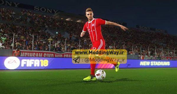 ادبورد پک FIFA18 و FIFA17 برای PES2018