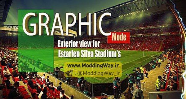 PES 2017 New Graphics for Estarlen Silva Stadium V1 - پچ گرافیکی استادیوم PES2017 برای استادیوم پک Starlen Silva