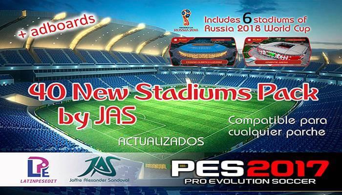دانلود استادیوم پک Jas برای PES2017 (نسخه فوق فشرده قرار گرفت)